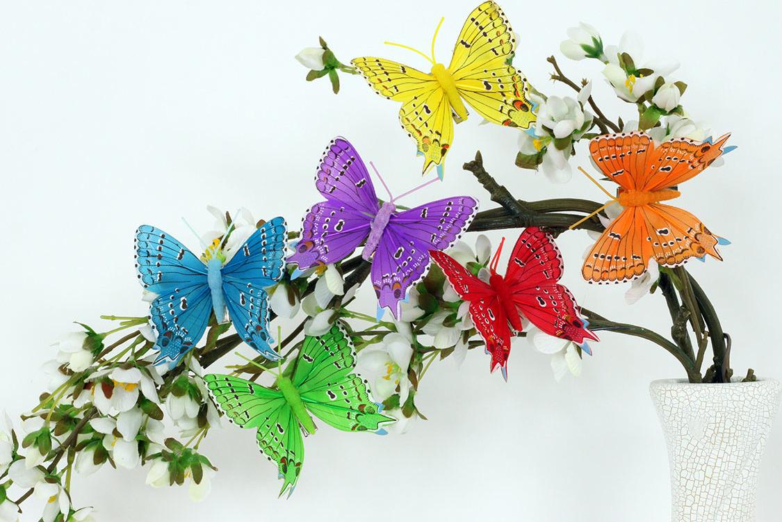 Artium Motýl na klipu sada 12 ks