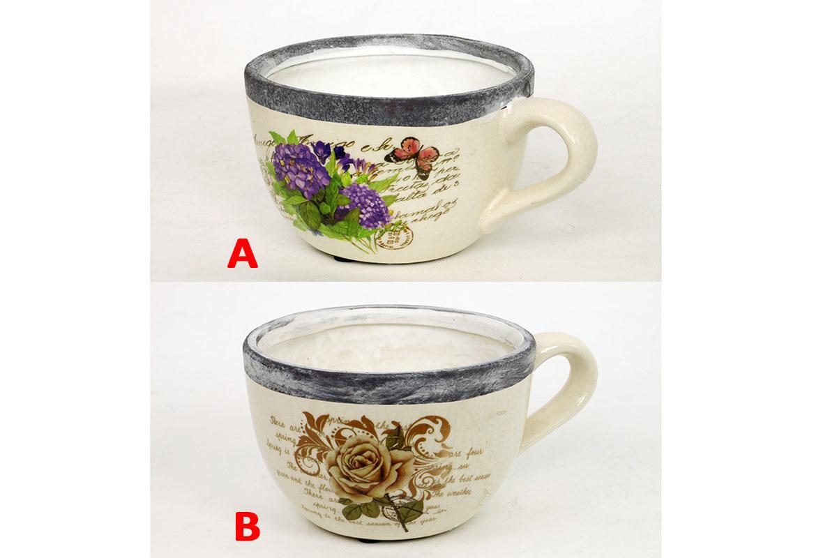 Květináč keramický hrnek Provedení: A