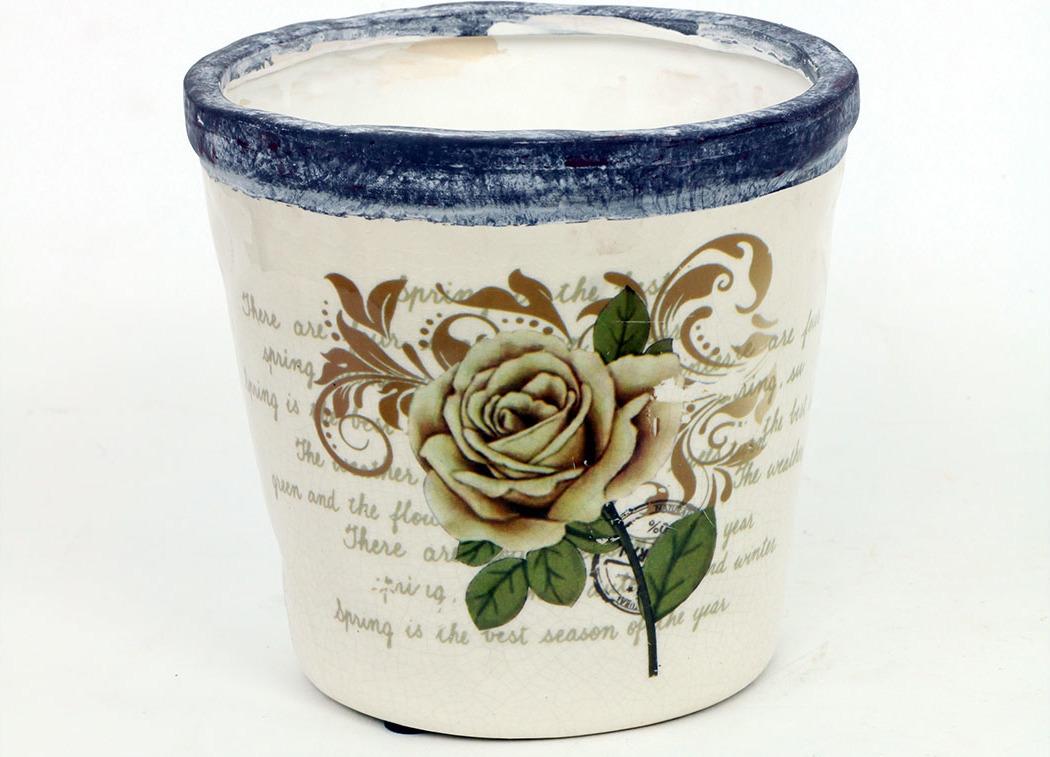 Květináč keramický růže Velikost: střední