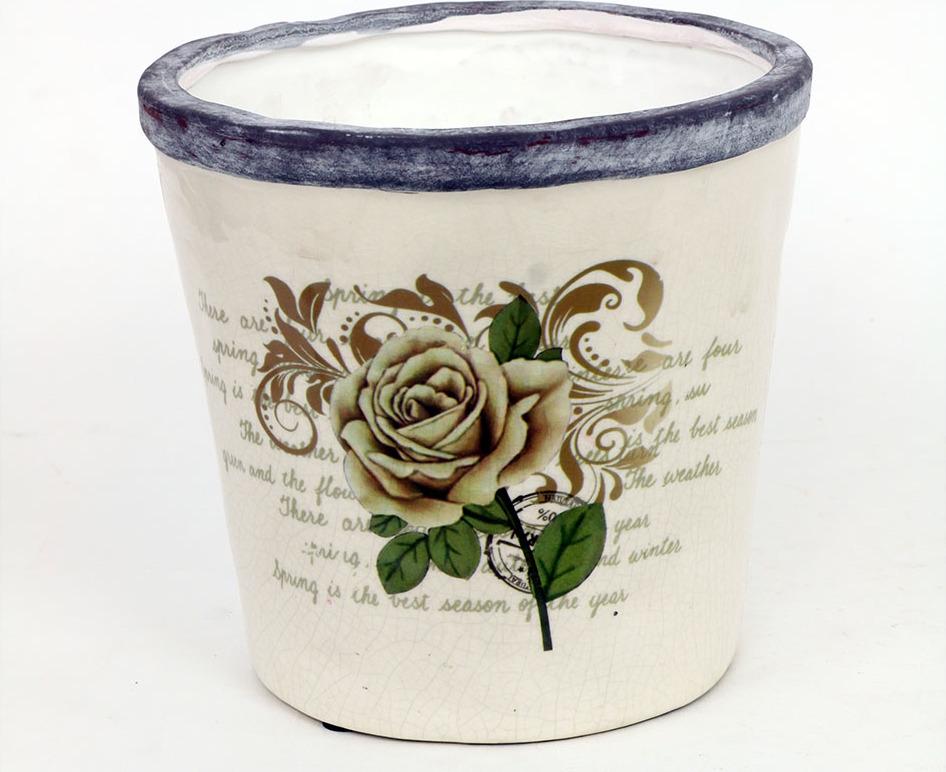 Květináč keramický růže Velikost: větší