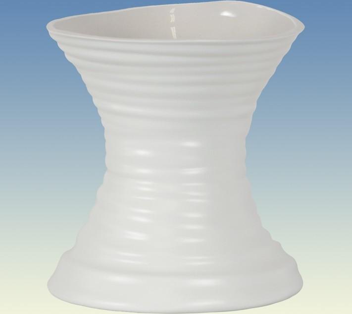 Váza keramická bílá matná 15x15x17cm