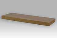 Nástěnná polička 60cm Barva: dub