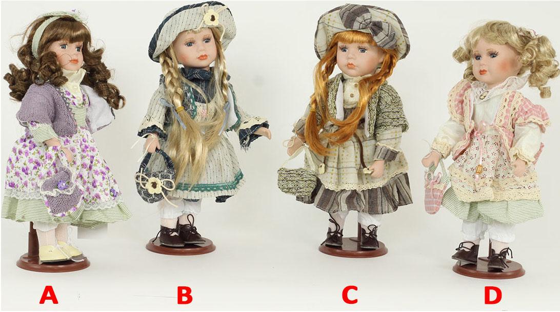 Panenka s porcelánovou hlavičkou 30cm Provedení: A