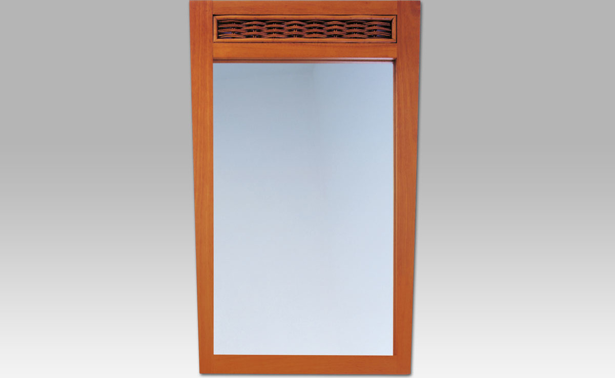 Artium Zrcadlo kaučuk ratan ATHENA Barva: třešeň