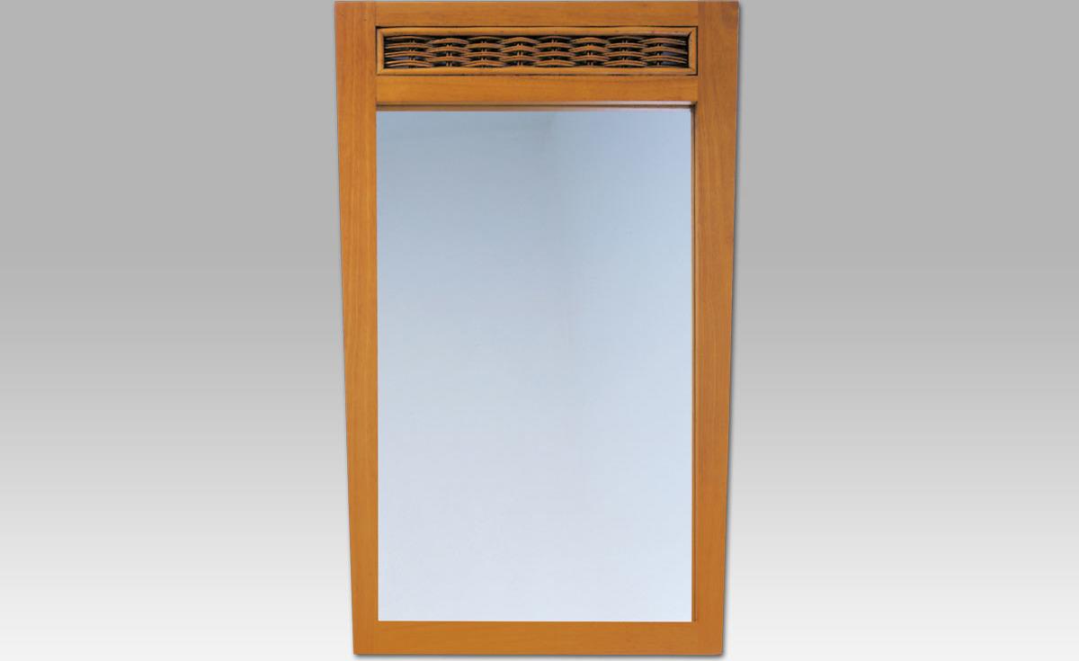 Artium Zrcadlo kaučuk ratan ATHENA Barva: hnědá
