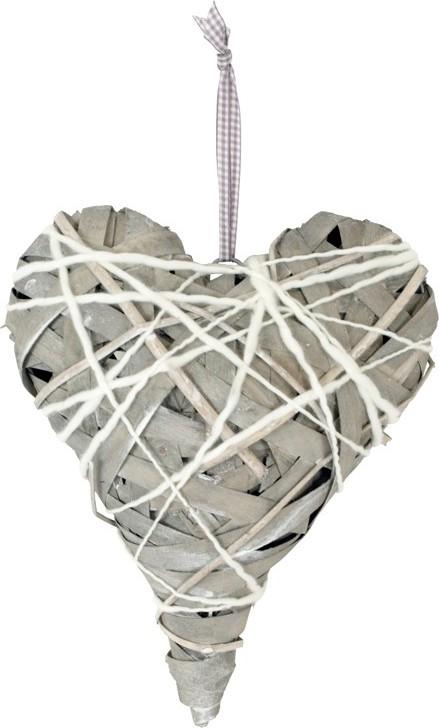Proutěné srdce|15x20cm