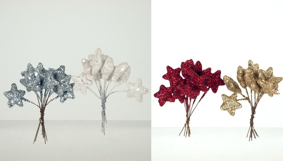 Vánoční přízdoba mix barev Barva: bílá