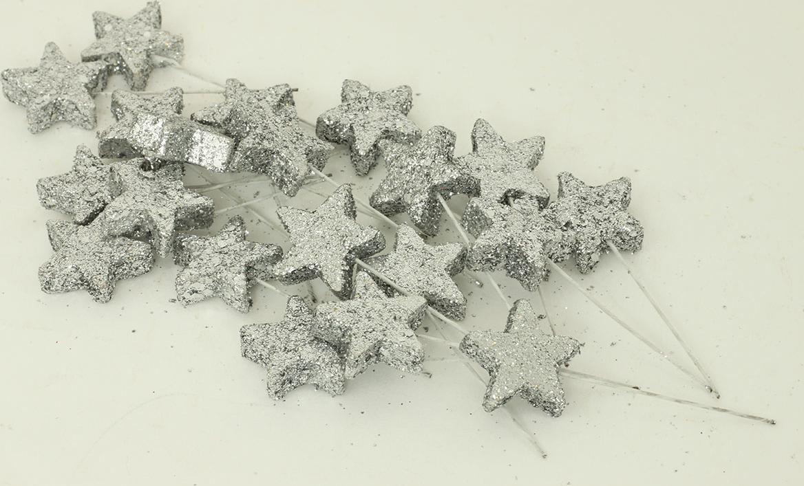 Artium Vánoční přízdoba hvězda set 20ks Barva: stříbrná
