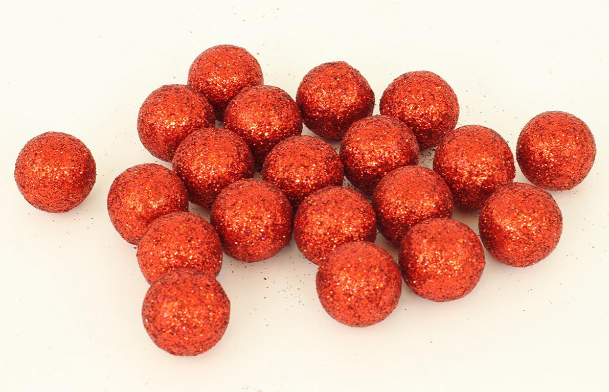 Artium Vánoční dekorační koule 2cm balení 20ks Barva: červená