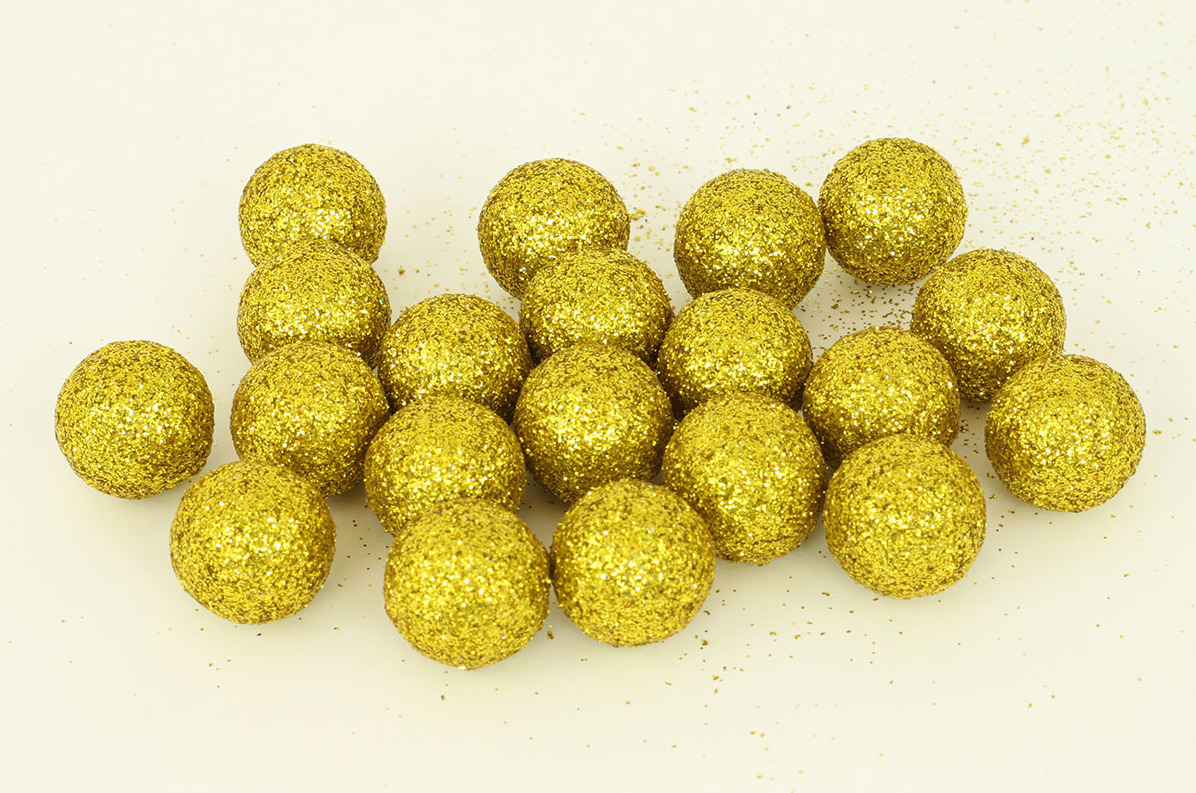 Artium Vánoční dekorační koule 2cm balení 20ks Barva: zlatá