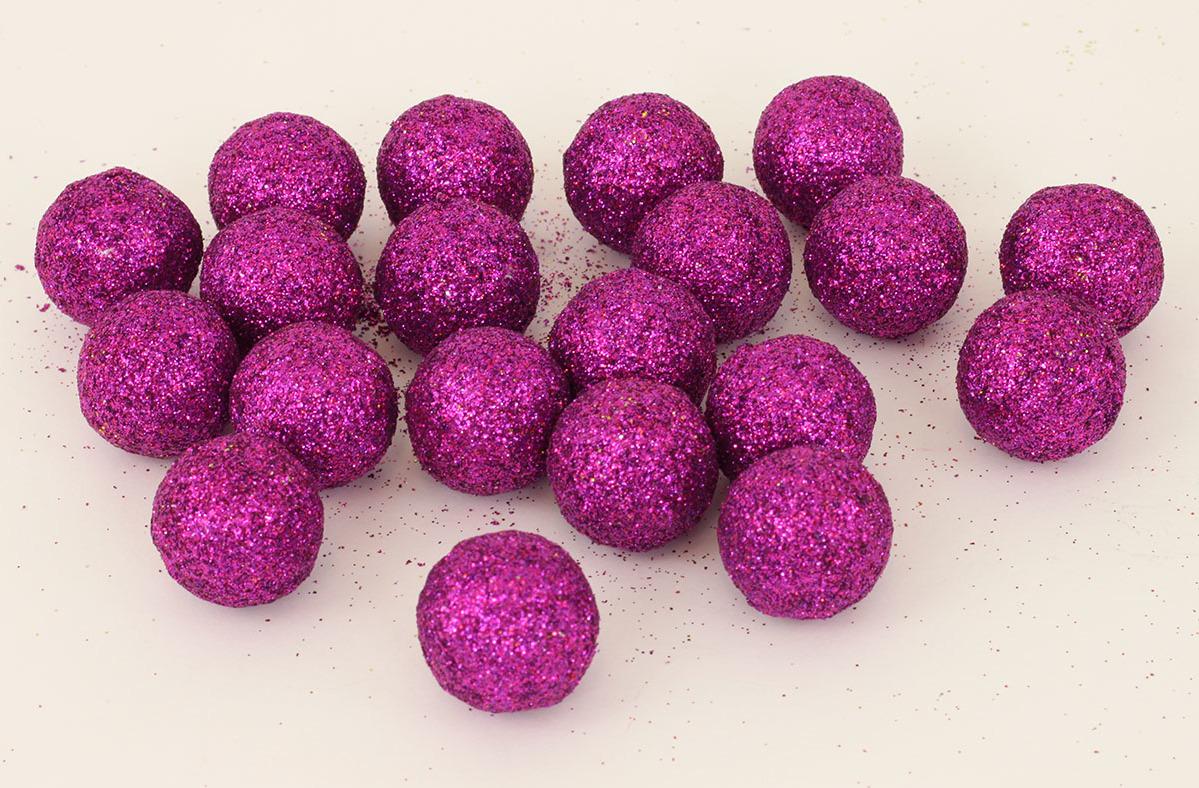 Artium Vánoční dekorační koule 2cm balení 20ks Barva: fialová