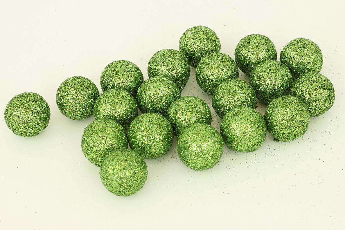 Artium Vánoční dekorační koule 2cm balení 20ks Barva: zelená