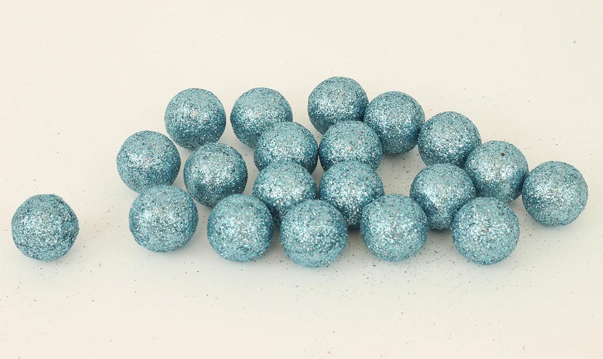 Artium Vánoční dekorační koule 2cm balení 20ks Barva: modrá