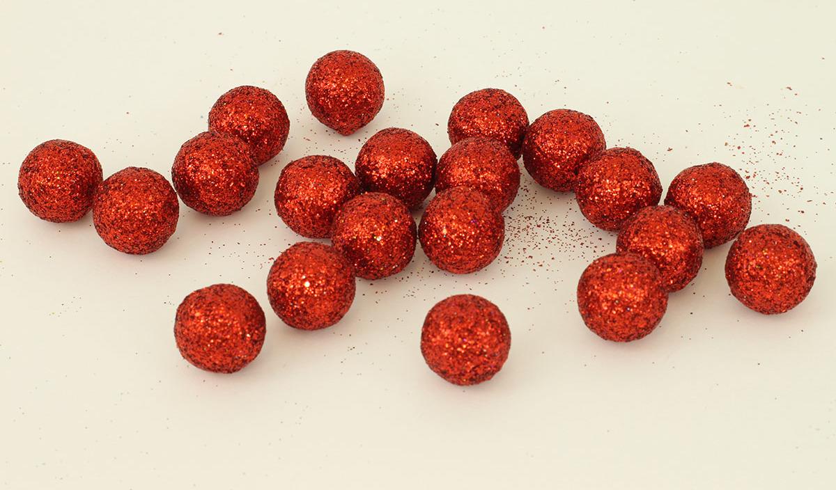 Artium Vánoční dekorační koule balení 20ks Barva: červená