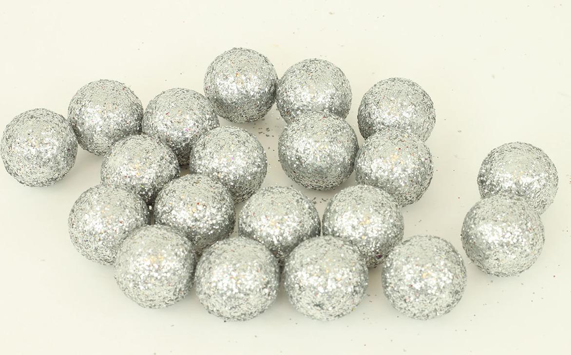Artium Vánoční dekorační koule balení 20ks Barva: stříbrná
