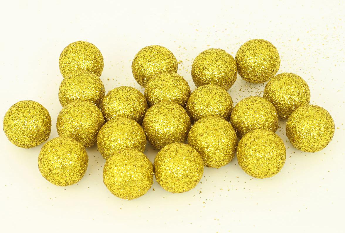 Artium Vánoční dekorační koule balení 20ks Barva: zlatá