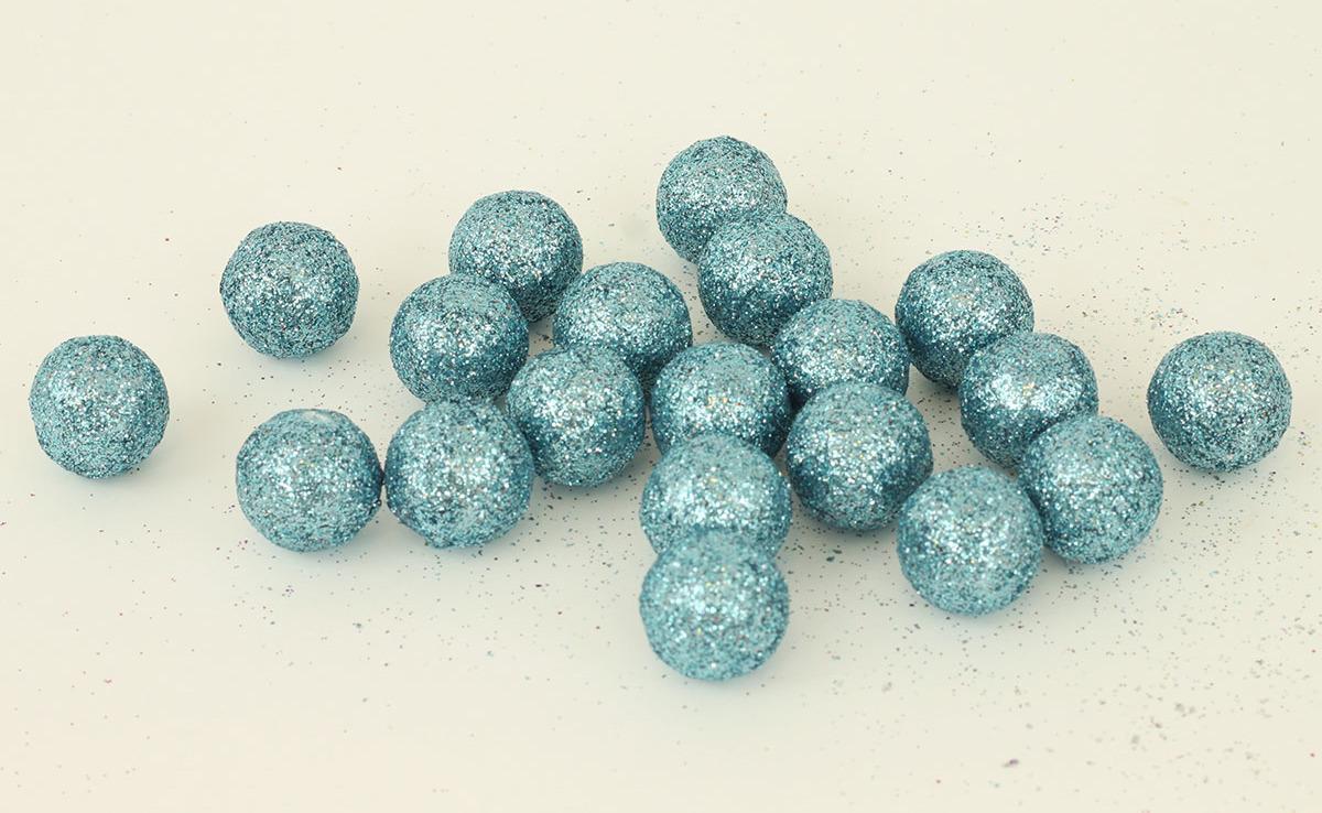 Artium Vánoční dekorační koule balení 20ks Barva: modrá