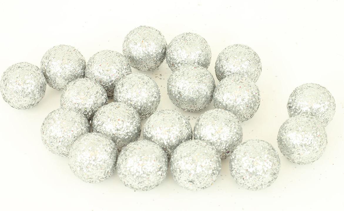 Artium Vánoční dekorační koule balení 20ks Barva: bílá
