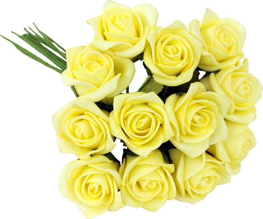 Kytice růžiček pěnových Barva: žlutá