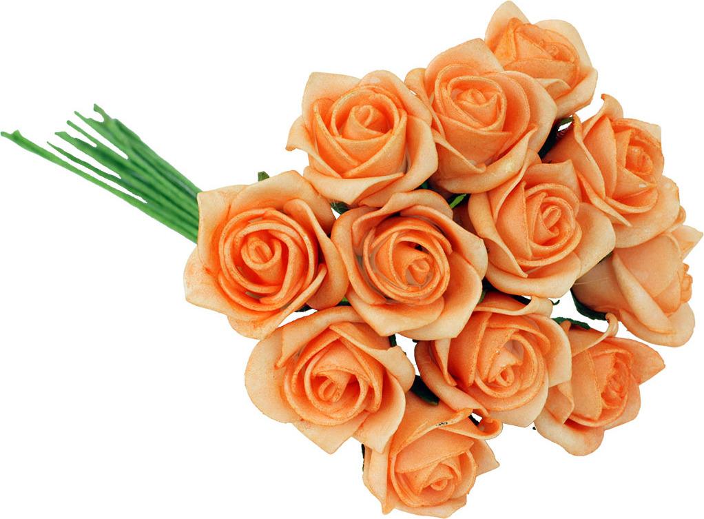 Kytice růžiček pěnových Barva: oranžová