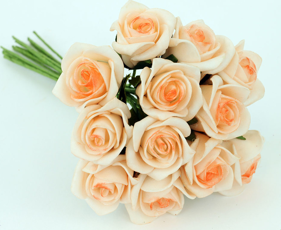 Kytice růžiček pěnových Barva: lososová
