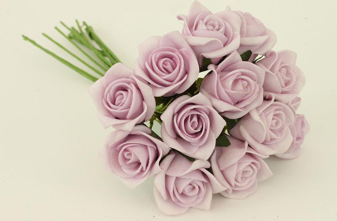 Kytice růžiček pěnových Barva: fialová