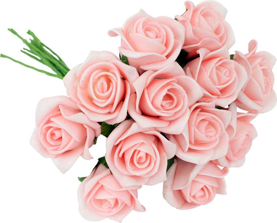 Kytice růžiček pěnových Barva: růžová