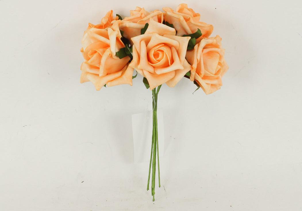 Artium Růžičky pěnové puget 6ks květ 7cm Barva: oranžová