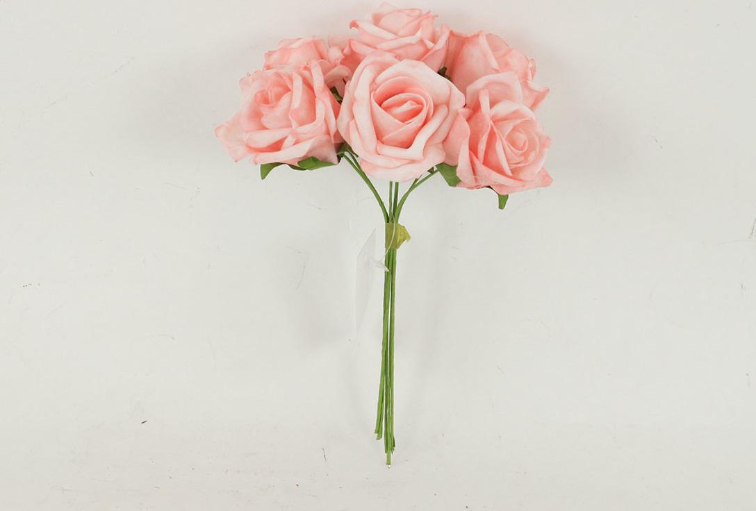 Artium Růžičky pěnové puget 6ks květ 7cm Barva: růžová