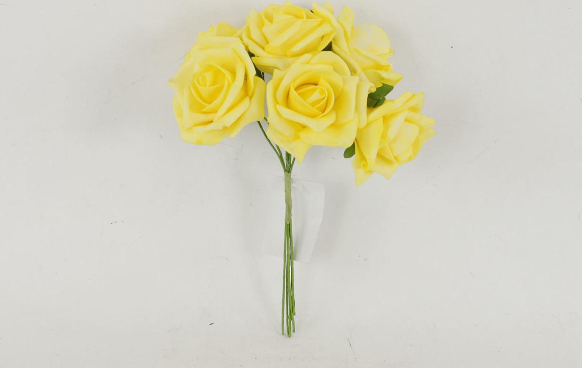 Artium Růžičky pěnové puget 6ks květ 7cm Barva: žlutá