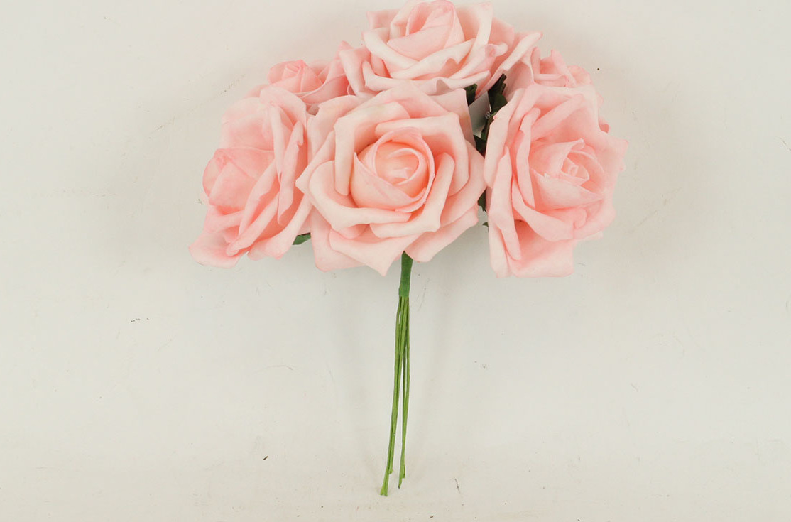 Artium Růžičky pěnové puget 6ks květ 10cm Barva: růžová