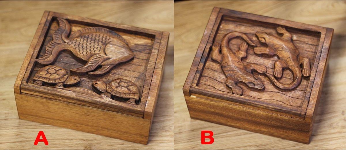 Dřevěná krabička | mahagonová Provedení: B