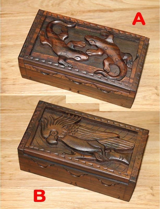 Dřevořezba | mahagonová krabička Provedení: A