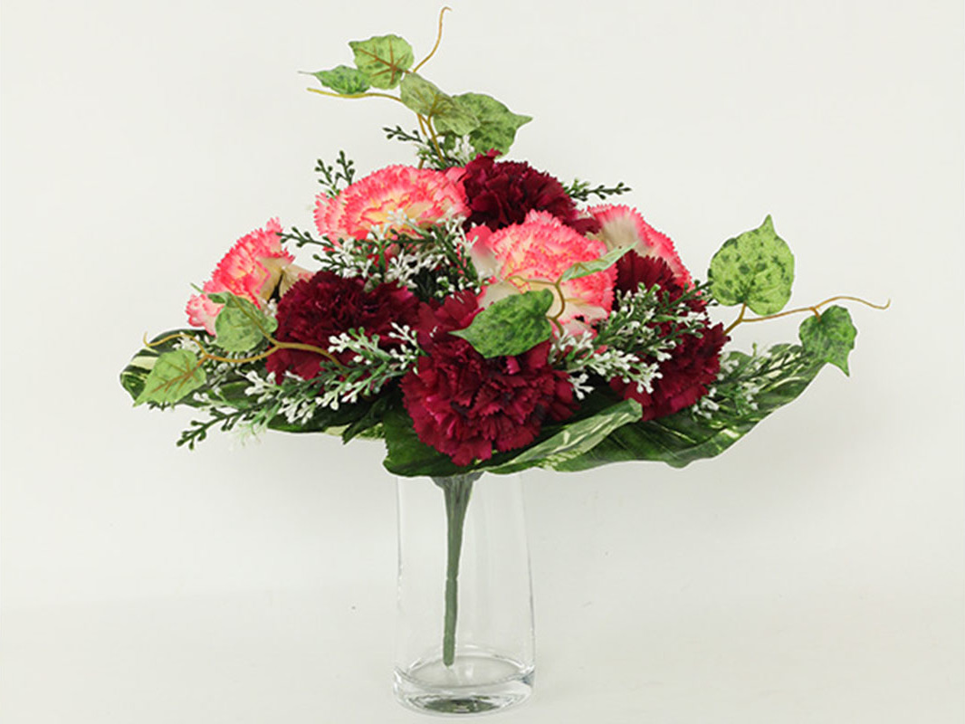 Artium Puget umělých květin s karafiáty