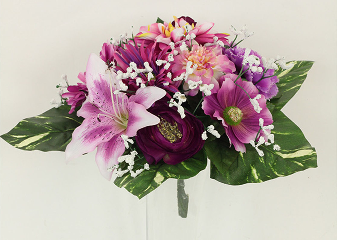 Artium Puget umělých květin v růžových tónech