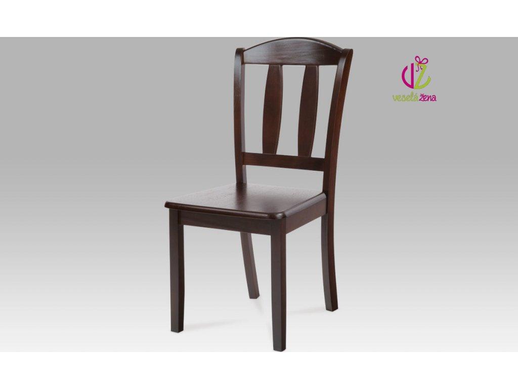 Artium Jídelní židle dřevěná 44x42x90x43cm Barva: ořech