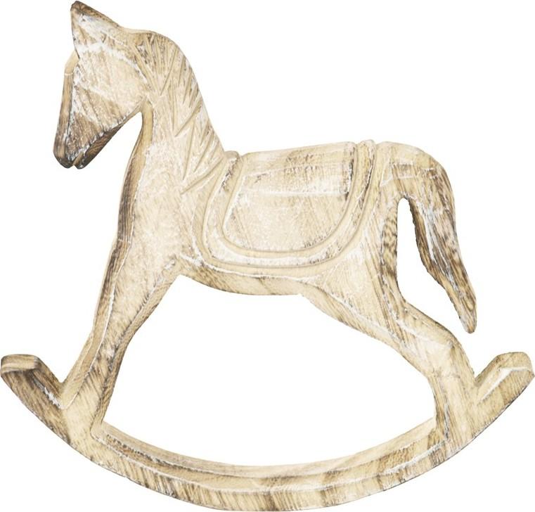 Artium Dřevěný houpací kůň 19x3x20cm