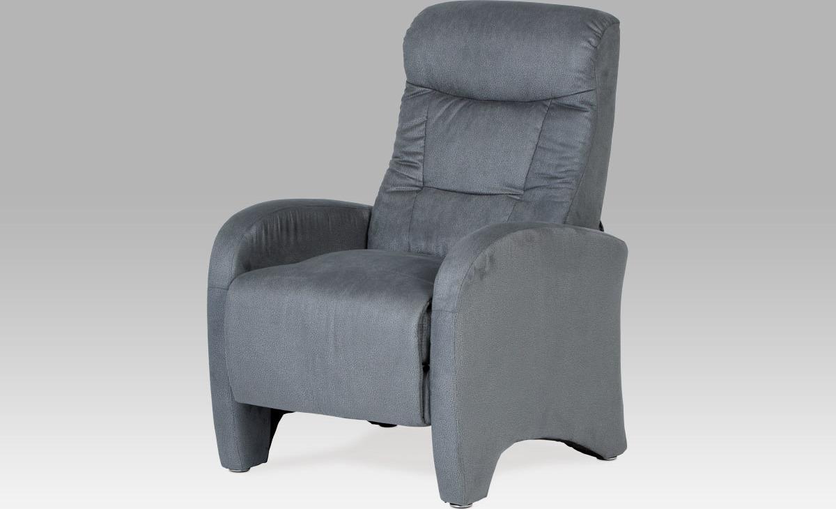 Artium Relaxační křeslo látkové Barva: šedá
