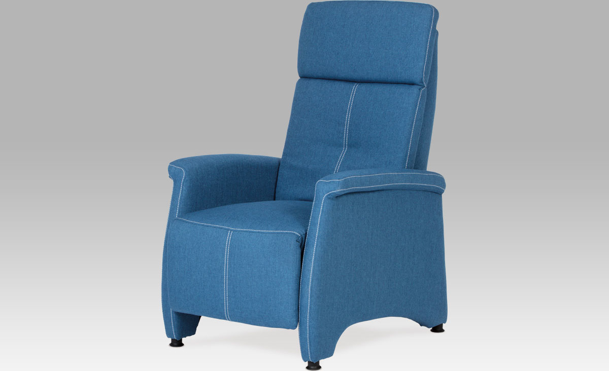Relaxační křeslo vysoké Barva: modrá