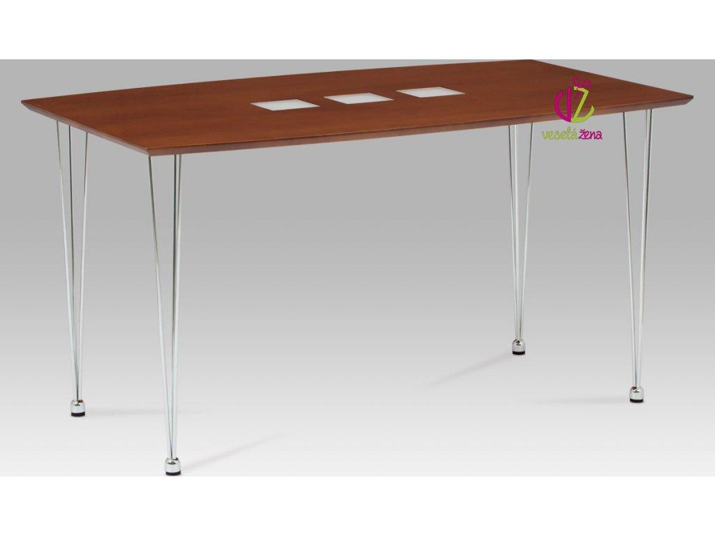 Jídelní stůl kovový 135x80cm Barva: ořech