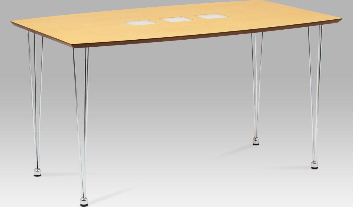 Jídelní stůl kovový 135x80cm Barva: přírodní