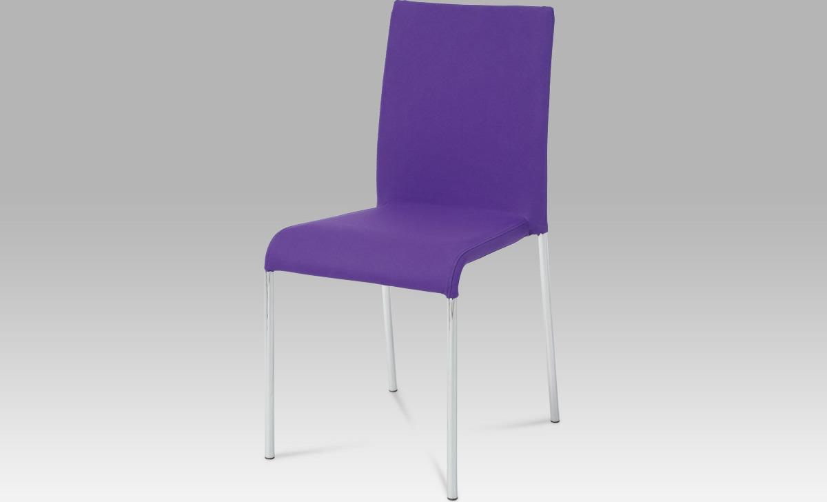 Jídelní židle fialová 42x40x88x46cm