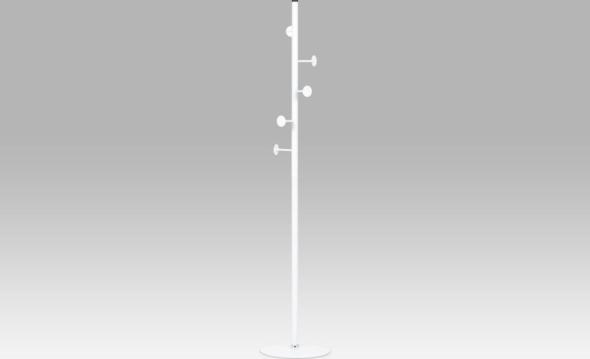 Věšák 173 cm bílý kov