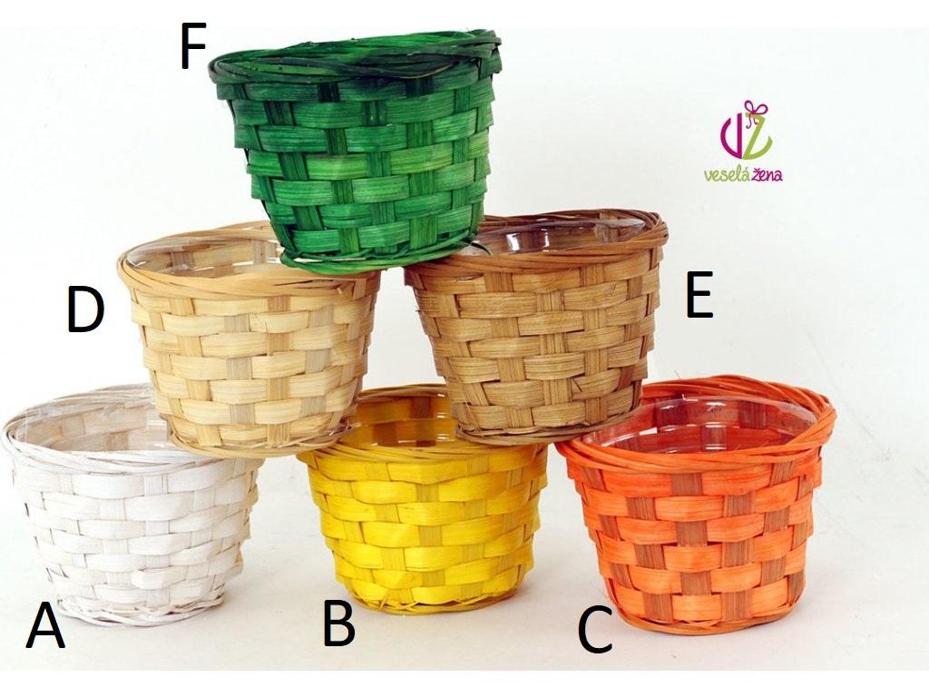 Bambusový košík 14x14x10cm Provedení: A - bílá
