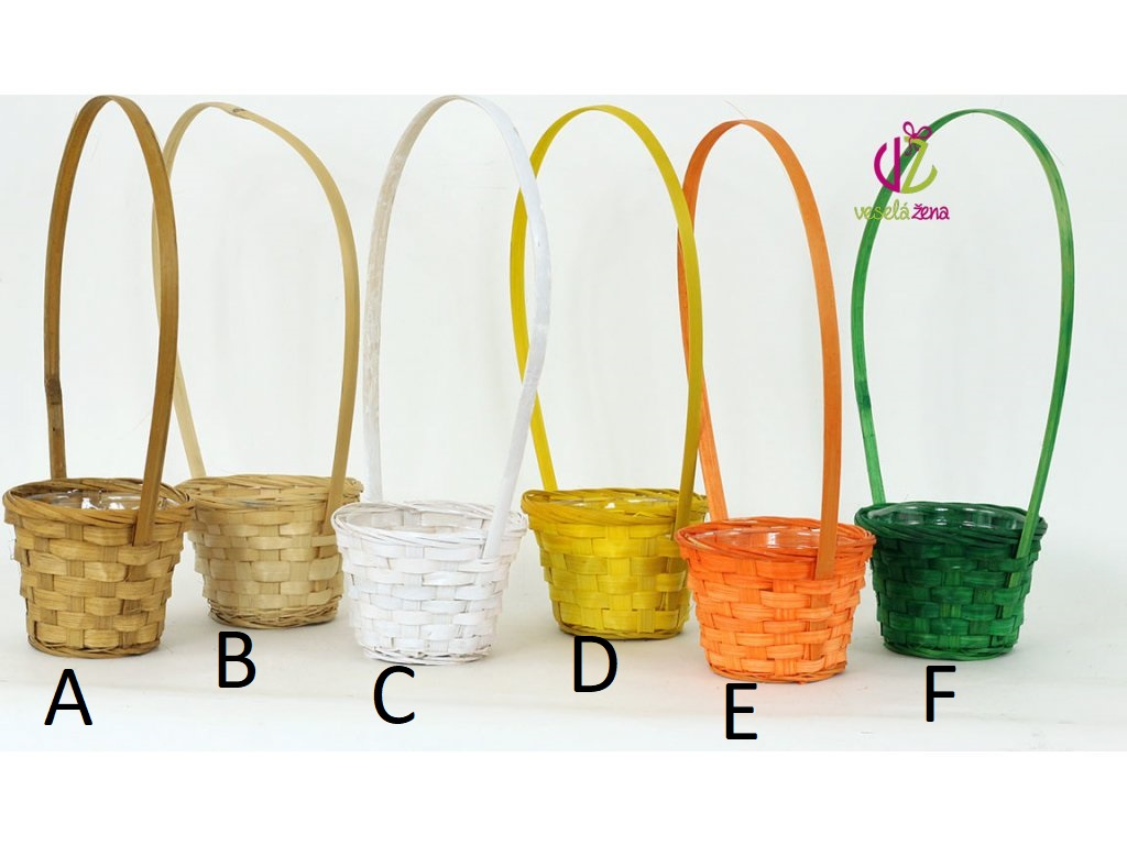Artium Bambusový košík s uchem 14x14x10cm Provedení: A - tmavě přírodní
