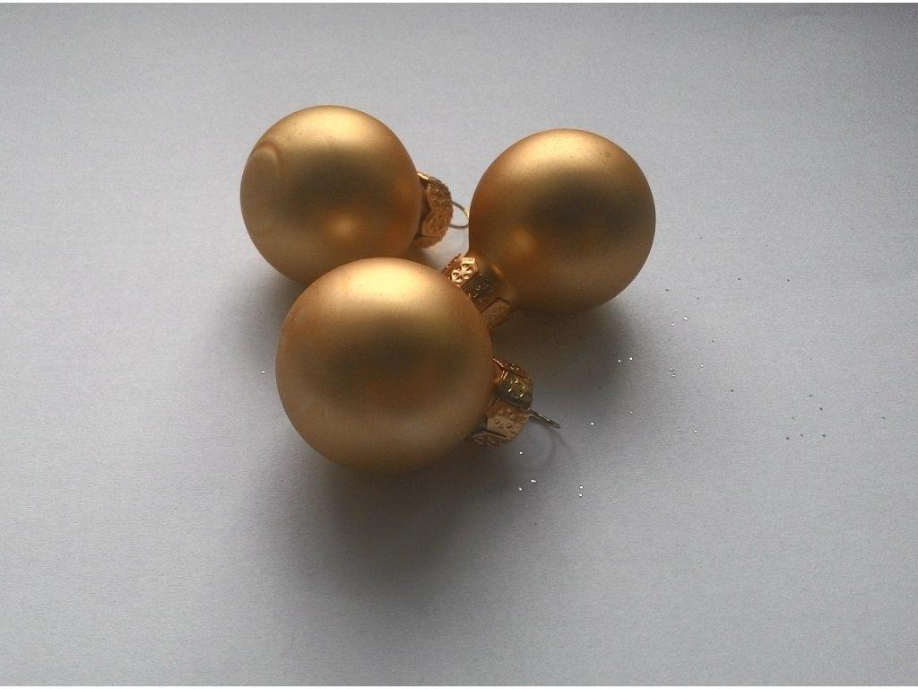 VÁNOČNÍ OZDOBA KOULIČKA Barva: zlatá, Provedení: MATNÉ