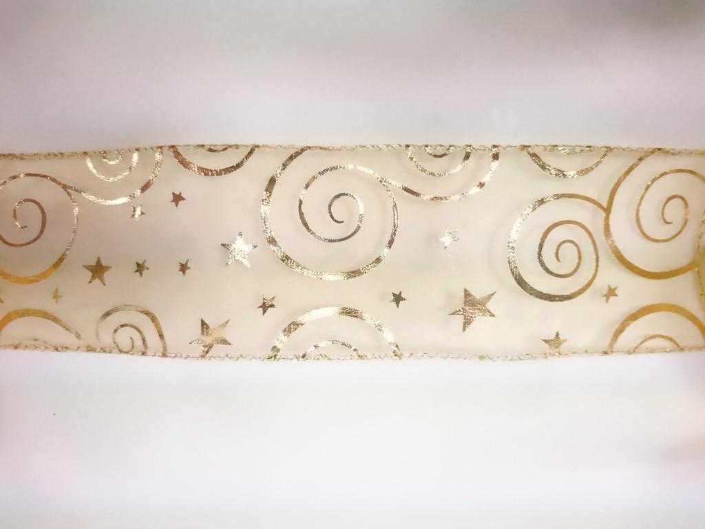 Stuha dekorativní GOLDEN 6x300cm Provedení: C
