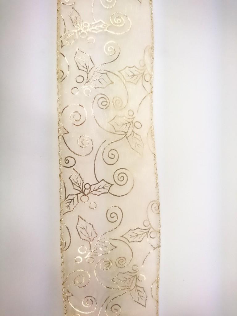 Stuha dekorativní GOLDEN 6x300cm Provedení: E
