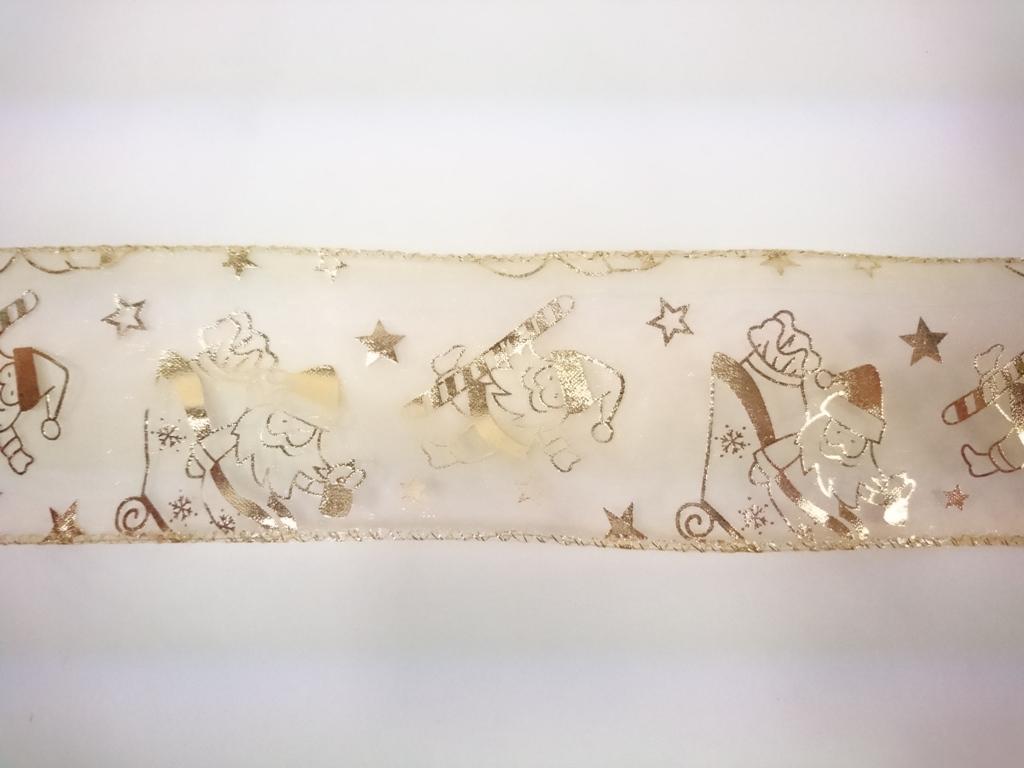 Stuha dekorativní GOLDEN 6x300cm Provedení: F