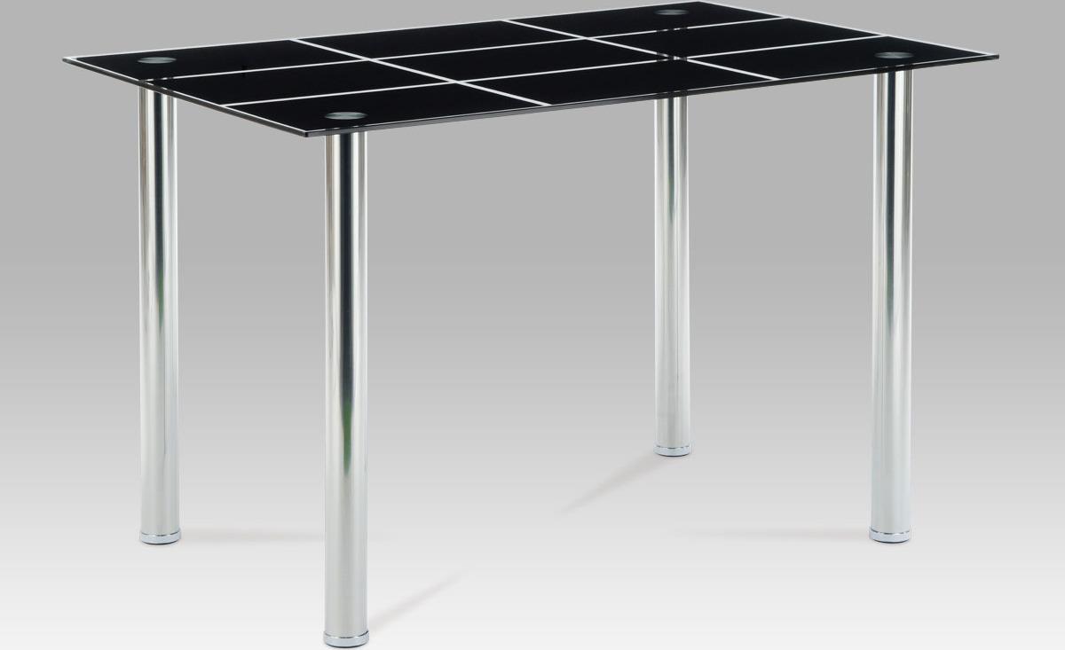 Artium Jídelní stůl skleněný černý 120x80cm